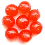 Glace red cherries