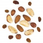 Almonds, Brazil nuts, Raw cashews, Hazelnuts, Raisins