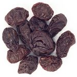 Dried unpitted prunes